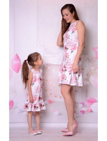 Piękne letnie sukienki w kwiaty dla mamy i córki