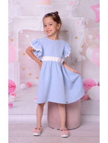 Piękna muślinowa sukienka dla dziewczynki