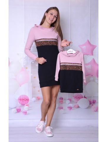 Zestaw dresowych sukienek dla mamy i córki