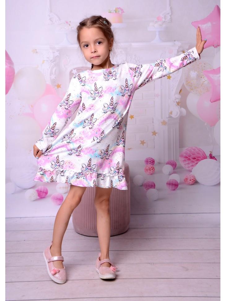 Sukienka tęczowy jednorożec