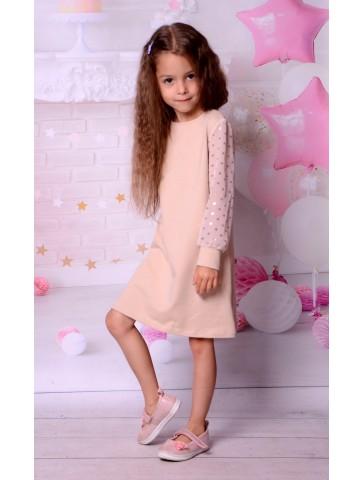 Beżowo złota sukienka dla dziewczynki