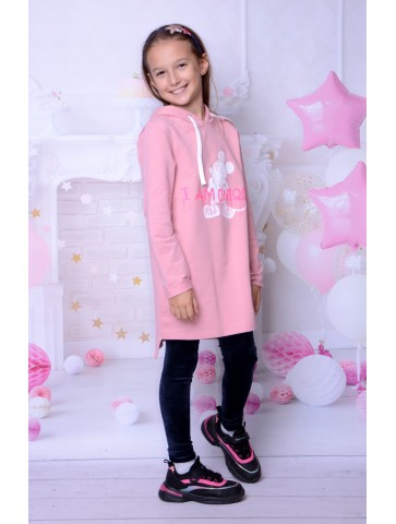 Welurowe, grafitowe legginsy dla dziewczynki