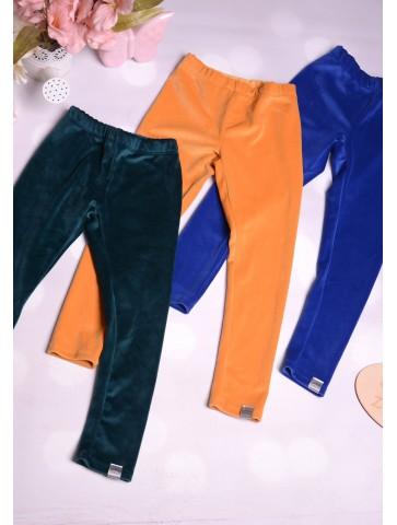 Ciepłe welurowe legginsy dla dziewczynek