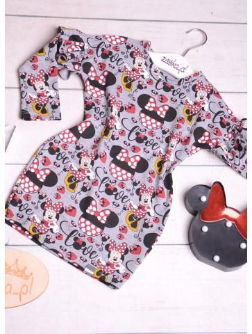 Bawełniana sukienka z Myszkami Miki