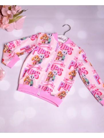 Bluza różowa z psim patrolem