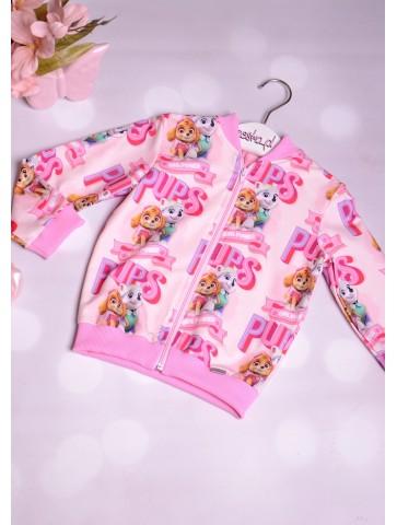 Bluza Bomber Różowy Psi Patrol