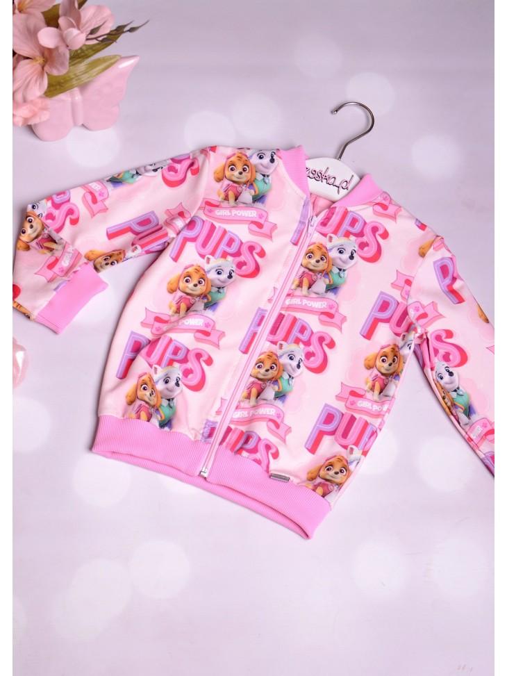 Różowa bluza z psim patrolem