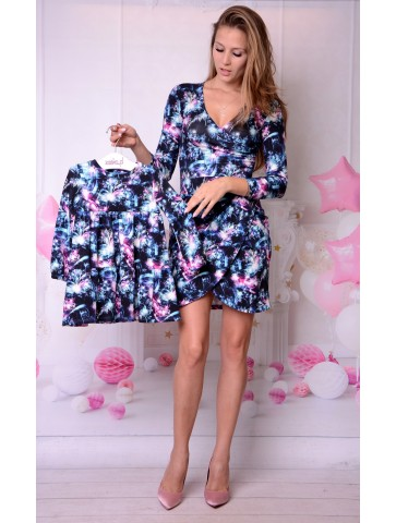 Eleganckie, kopertowe sukienki dla mamy i córki
