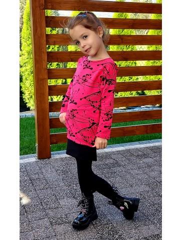 Sukienka bawełniana tuba fuksjowa dla dziewczynki