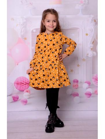 Sukienka miodowe myszki dla dziewczynki