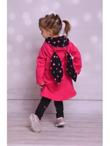 Wiosenny płaszczyk bluza zajączek dla dziewczynki
