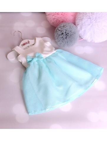 Turkusowe sukienki tiulowe dla mamy i córki