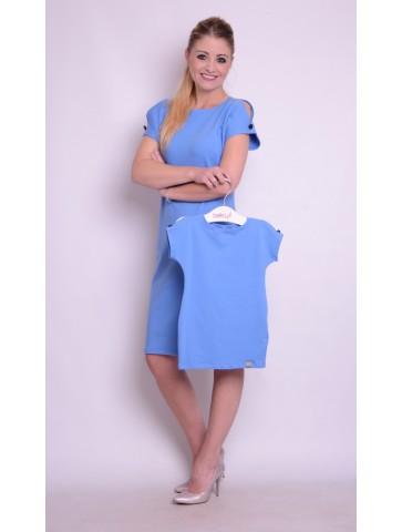 Niebieskie bawełniane sukienki dla mamy i córki