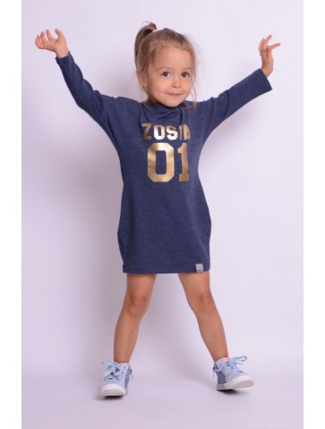 Sportowa sukienka z imieniem dla dziewczynki