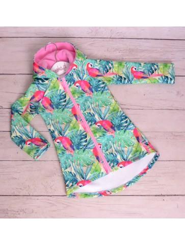 Płaszczyk jesienny dla dziewczynki softshell