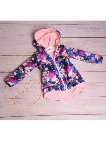 Ocieplana kurtka jesienna dla dziewczynki