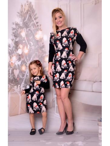 Sukienki świąteczne dla mamy i córki