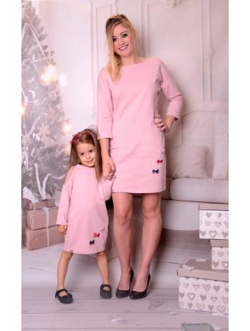 Rosa Kleider Mama + Tochter...