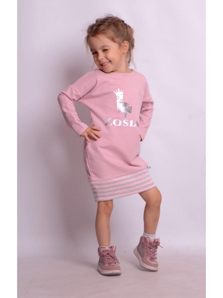 Różowe sportowe sukienki z imieniem dziecka