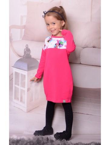 Różowa sukienka z myszką Minnie dla dziewczynki
