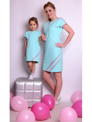 Sukienka dresowa dla mamy i dziecka
