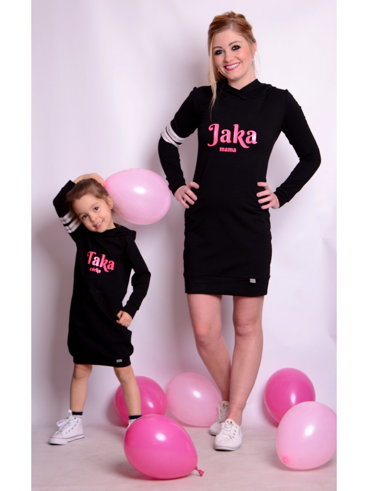 Sukienki dresowe z kapturem jaka mama taka córka