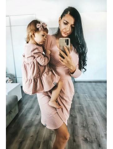 Kopertowe sukienki dla mamy i córki dla mam karmiących
