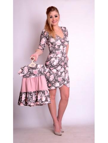 Wiosenne Sukienki Mama+Córka Róże