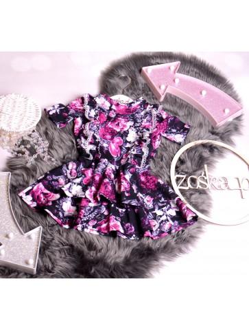sukienka w kwiaty princeska
