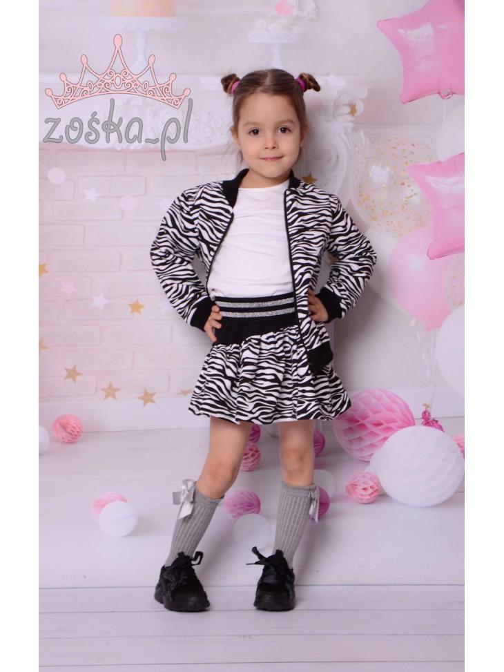 Komplet zebra kurteczka + spódniczka