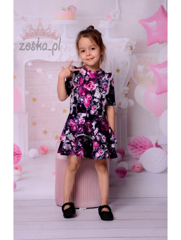 Princesska dla dziewczynki w fioletowe kwiaty
