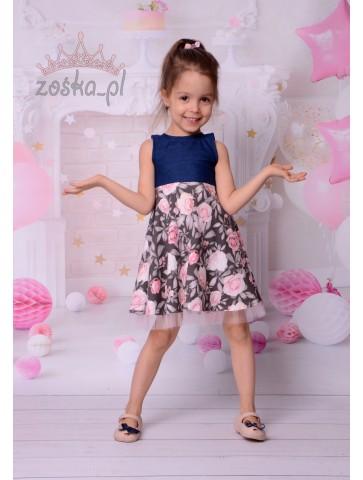 Romantyczna sukienka w kwiaty dla dziewczynki
