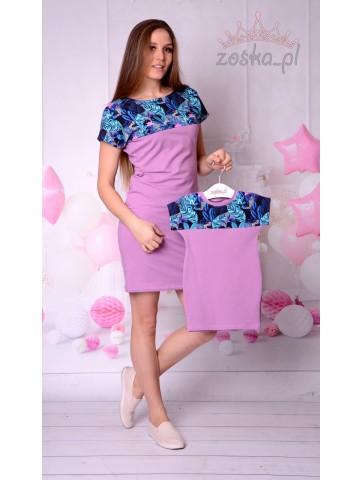 Sukienka Tropik Fiolet Mama...