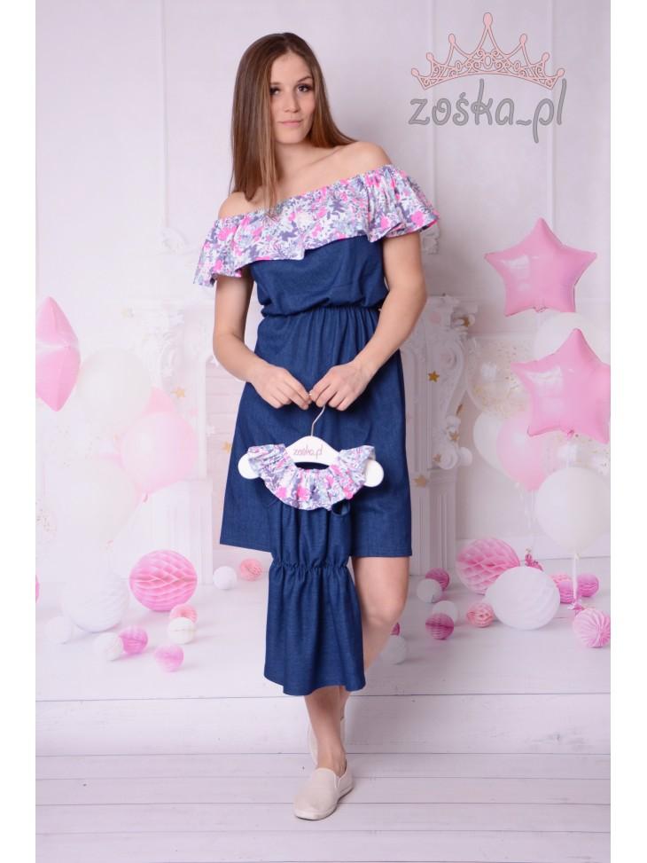 Jeansowe sukienki hiszpanki mama córka