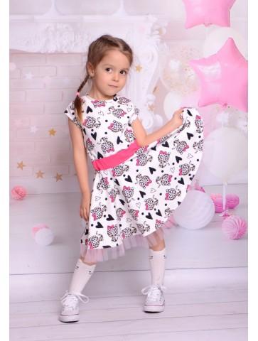 Bawełniana sukieneczka panterka dla dziewczynki
