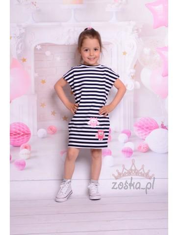Wiosenna dresowa sukienka dla dziewczynki