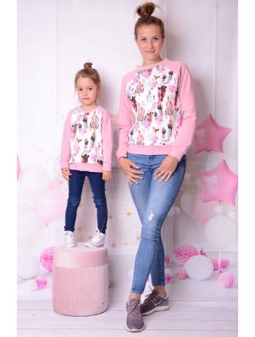 Dresowe bluzy mama i córka