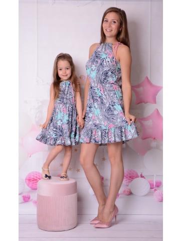Letnie eleganckie sukienki dla mamy i córki