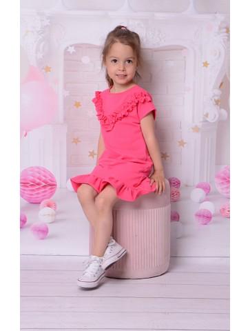 Wiosenna sukienka z falbankami dla dziewczynki