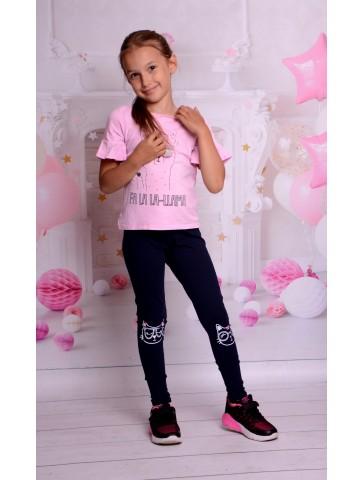 Bawełniane legginsy dla dziewczynki