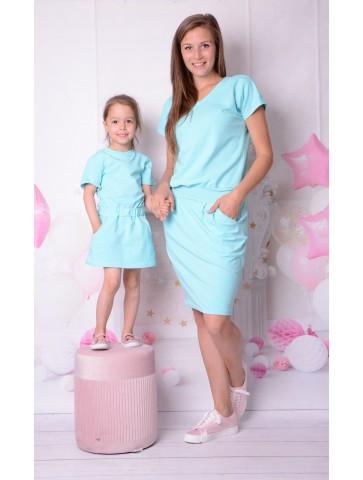 Sportowe letnie sukienki dla mamy i córki