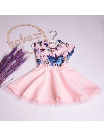 Sukienka kloszowana dla dziewczynki na komunie i wesela.