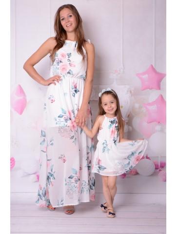 Lange Mama + Tochter Kleid...