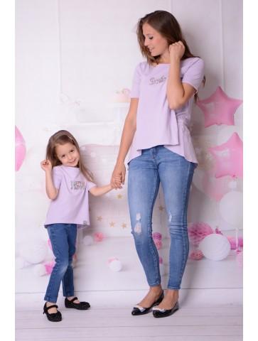 Tuniki fioletowe dla mamy i córki