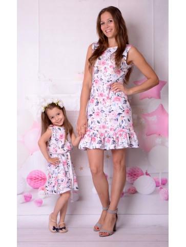 Letnie sukienki w kwiaty dla mamy i córki