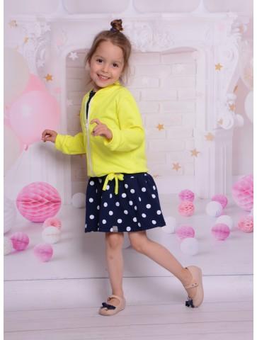 Bluza bomber dla dziewczynki neonowy żółty