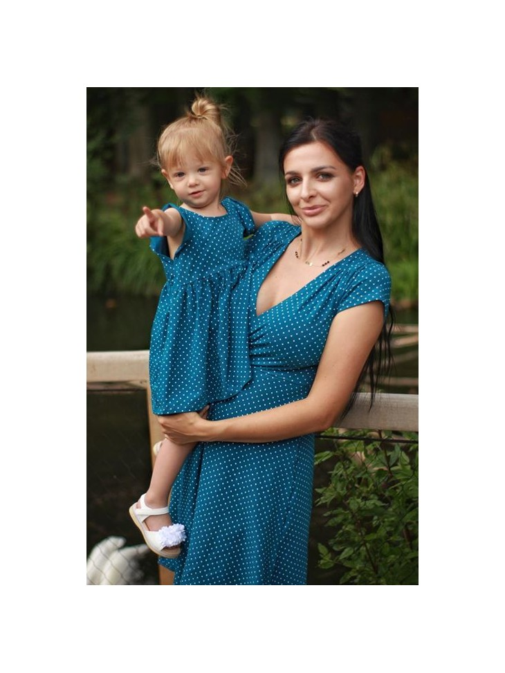Sukienka kopertowa dla mamy i córki