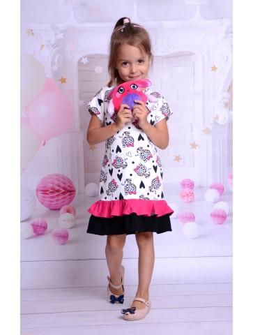 Sukienka w panterkę dla dziewczynki