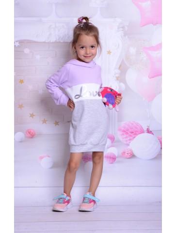 Dresowe fioletowe sukienki dla mamy i córki
