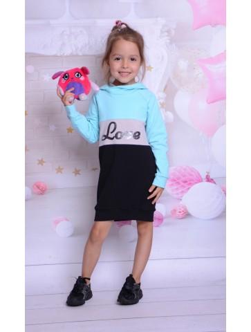 Dresowe sukienki trikolor dla mamy i córki